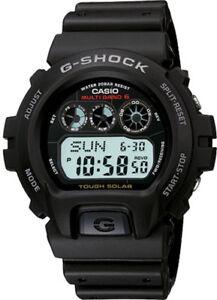 Casio-G-Shock-Men-039-s-Tough-Solar-Atomic-Black-Resin-Band-41mm-Watch-GW6900-1