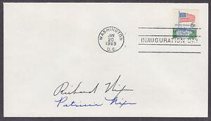 Richard Nixon, US President, Patricia Nixon, Signed 1969 Inauguration Cover