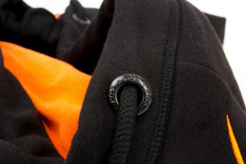 Fox Black Orange Heavy Lined Hoody Pullover Pulli Kapuzenpullover Kapuzenpulli