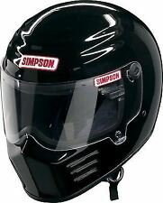SIMPSON OUTLAW HELMET SNELL M2015 GLOSS BLACK XL X-LARGE 62cm 7 3/4