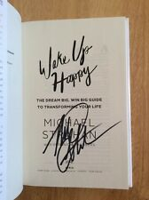 SIGNED by Michael Strahan - Wake up Happy Hardcover 1st/1st + Pic New Unread
