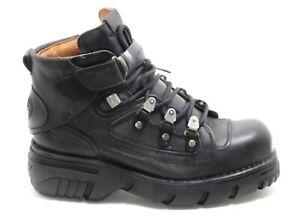 639 Stivali Plateau Gotico Pelle Boots New Rock 664 Planet Metallo Originale 44