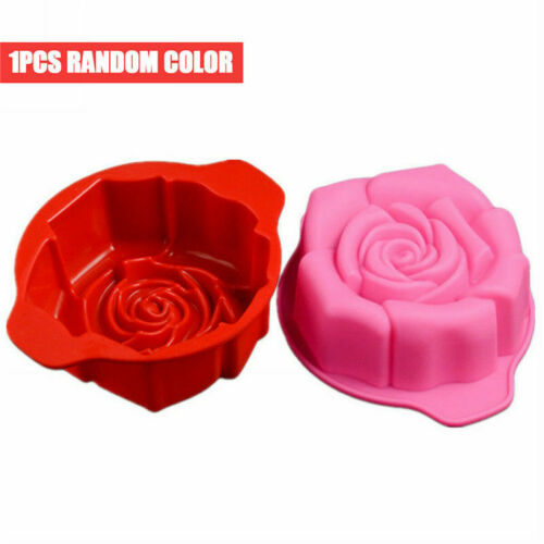 3D Flower Rose Shape Silicone Cake Mold Cupcake Bakeware Mould Baking Tool Soap