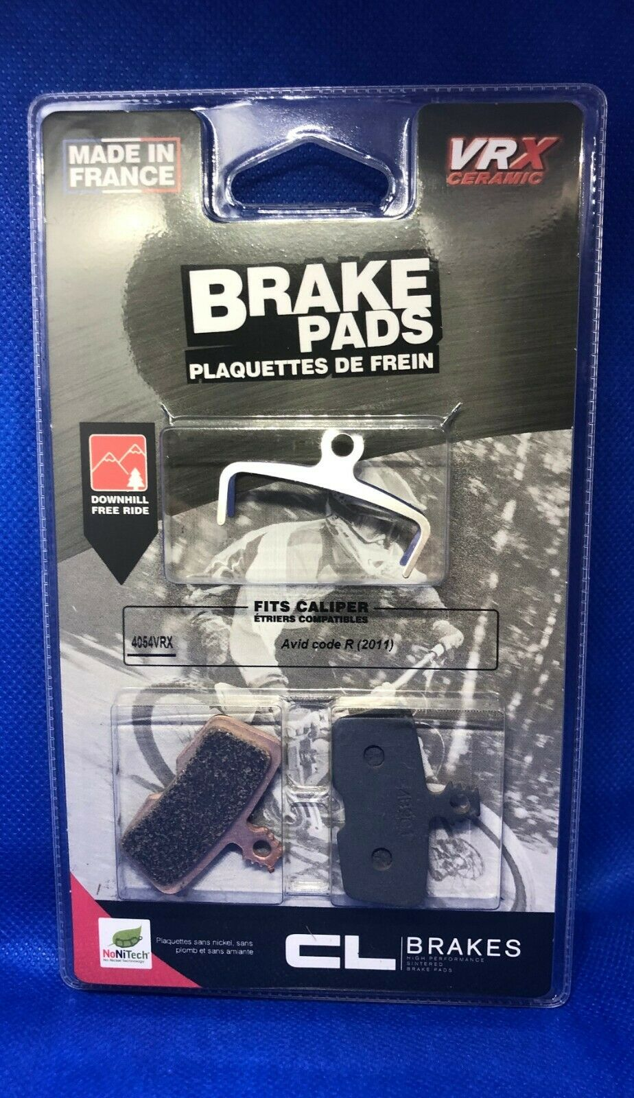 Pad brake compatible with AVID CODE R 2 11- sintered cl brakes vrx avid code