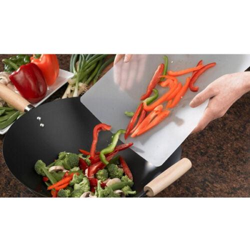 "4PCS 12/"" x 15/"" Non-slip Thin Clear Flexible Plastic Cutting Board Chopping Mat"
