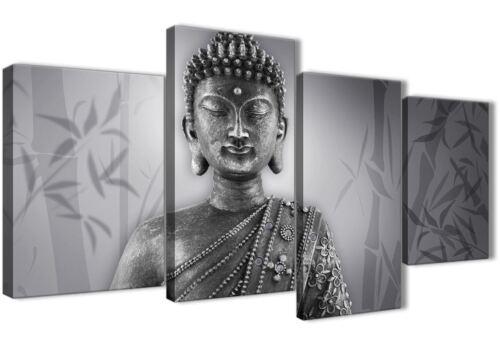 Large Black White Buddha Bedroom Canvas Pictures Decor 4373-130cm