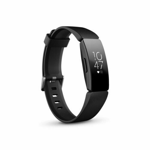 New Fitbit Inspire HR Heart Rate & Fitness Tracker, Black (Small & Large Bands) black Featured fitbit fitness heart inspire large new rate