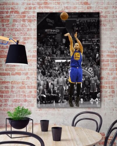 Stephen Curry Color Splash #2 Sports Painting Canvas Print Art Decor Wall