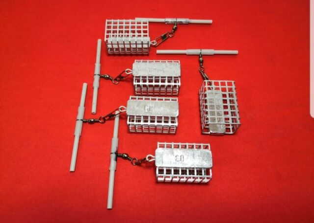 5x 60g Futterkorb mit Anti Tangle von SPRO Angelblei Grundblei Hohe Qualität