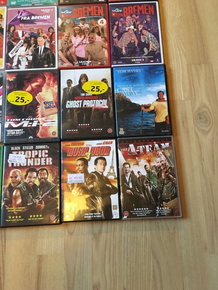 Forskellige film og serier 10kr stk, DVD, andet