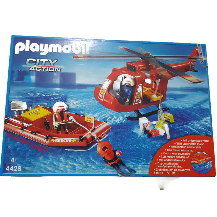 Playmobil Fire Rescue SOS Helicopter Rescue Boat 4428 Helikopter Rettungsavvio   prezzi più convenienti