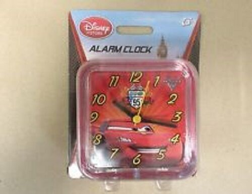 DISNEY CARS ALARM CHILDRENS CHILDS RED CLOCK BRAND NEW IN PACKAGING TIME TELLING