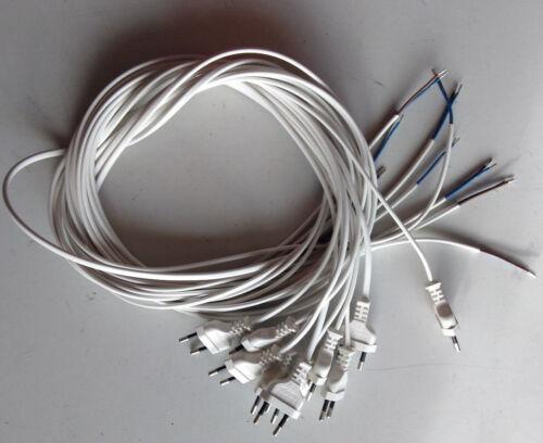 10 Stk Eurostecker Netzkabel 1,5 m Anschlusskabel 2 x 0,75mm neu