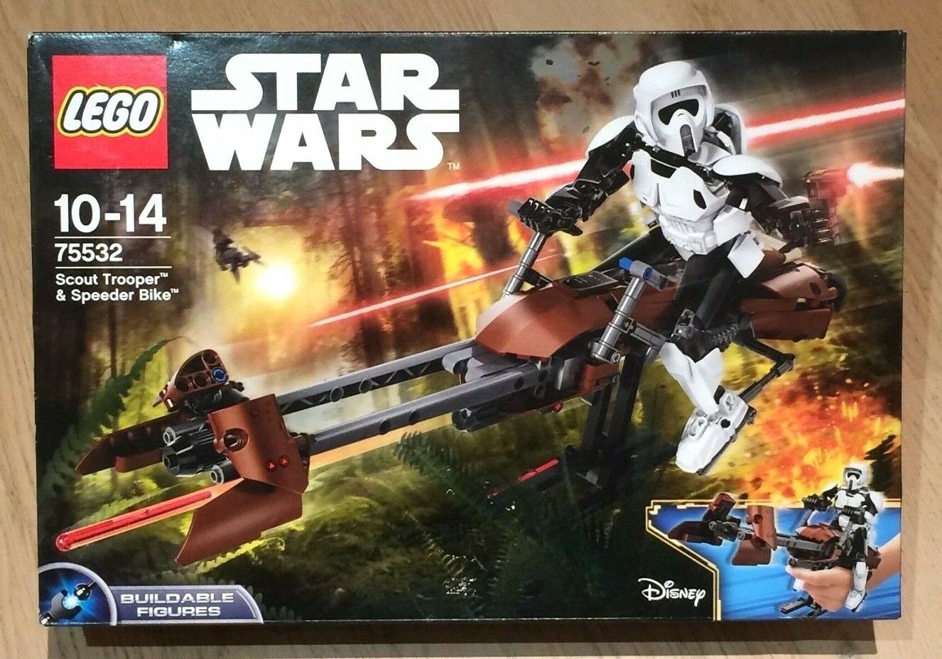 LEGO STAR WARS 75532 Scout Trooper & Speeder Bike NEWNEUF Buildable Figure JEDI
