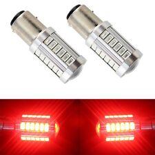 2X Red BAY15D 1157 1142 Car Tail Stop Brake Light 5730 33 SMD LED Bulb 12V DC