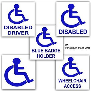 Disabled-Sticker-5-Pack-Wheelchair-Access-Driver-Blue-Badge-Holder-Disability
