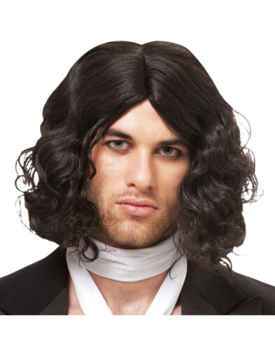 Black Bad Boy Mens Adult Short Curly Russel Brand Costume Wig