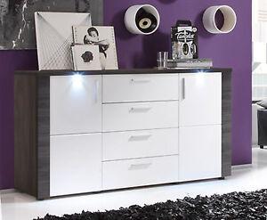 Kommode weiß Esche grau Wohnzimmer Sideboard Esszimmer Anrichte + ...