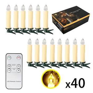 SunJas-LED-Velas-Luces-de-Decoracion-de-Navidad-Set-40-piezas-con-Control-Remoto
