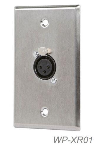 WP-XR01 1-Port XLR Female 3-Pin High Quality Zinc Alloy Audio Wall Plate