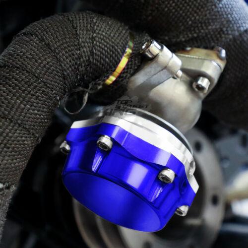 38MM TURBOCHARGER MANIFOLD TURBO BOOST BLUE WASTEGATE+DUMP FLANGE+7PSI SPRING