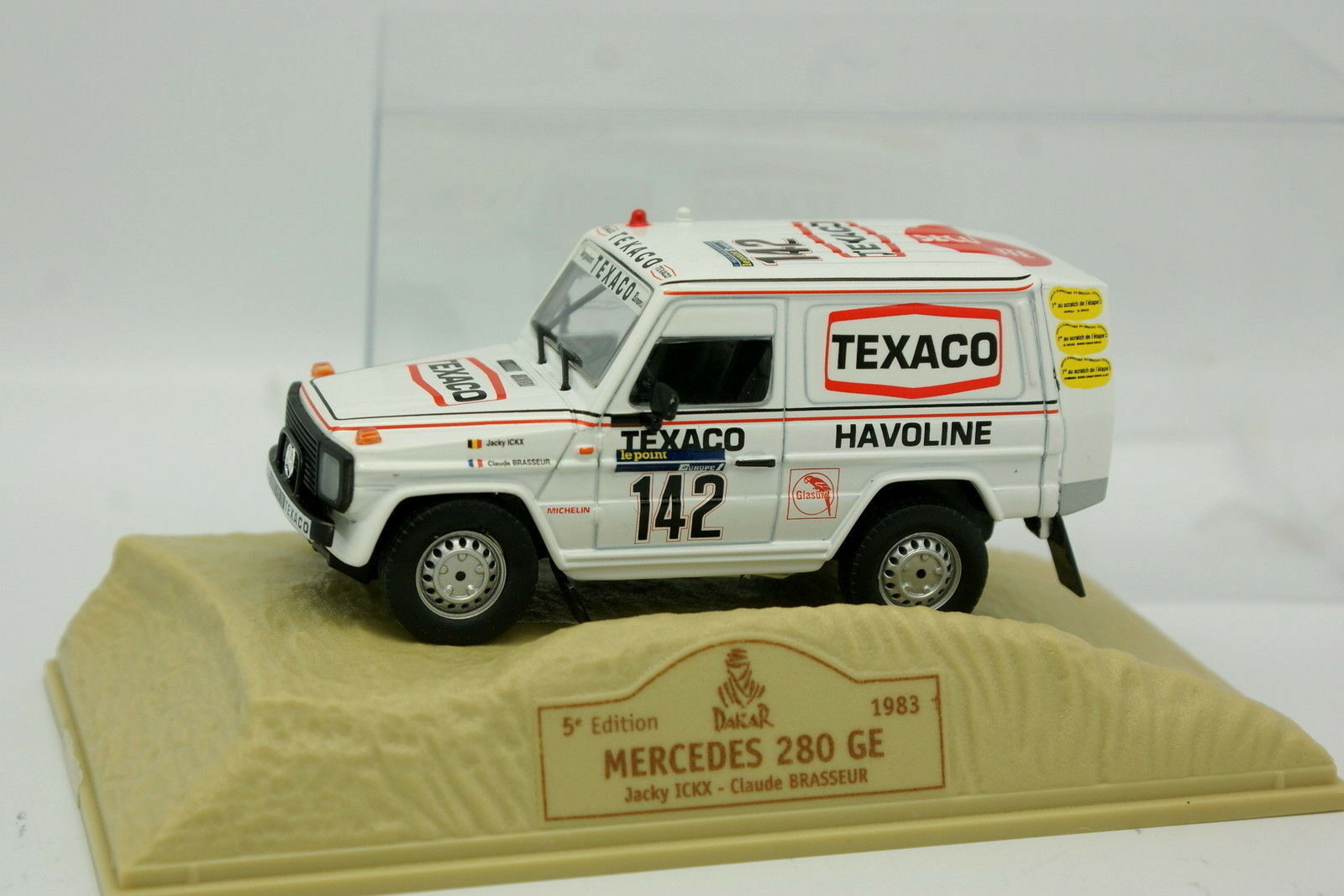 Norev Press 1 43 - Mercedes 280 GE Paris Dakar 1983