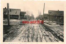 4 x Foto, Zahnarzt Einsatz Ostfront, Schlammperiode in Gambolowo 1941/42