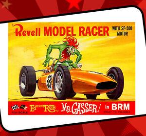 Rat Fink Ed Roth Vintage Revell Racing T Shirt Mr Gasser Brm Hot