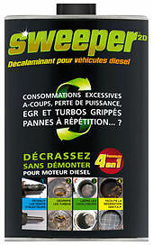 sweeper 2l additif nettoyant injecteur fap catalyseur turbo ebay. Black Bedroom Furniture Sets. Home Design Ideas