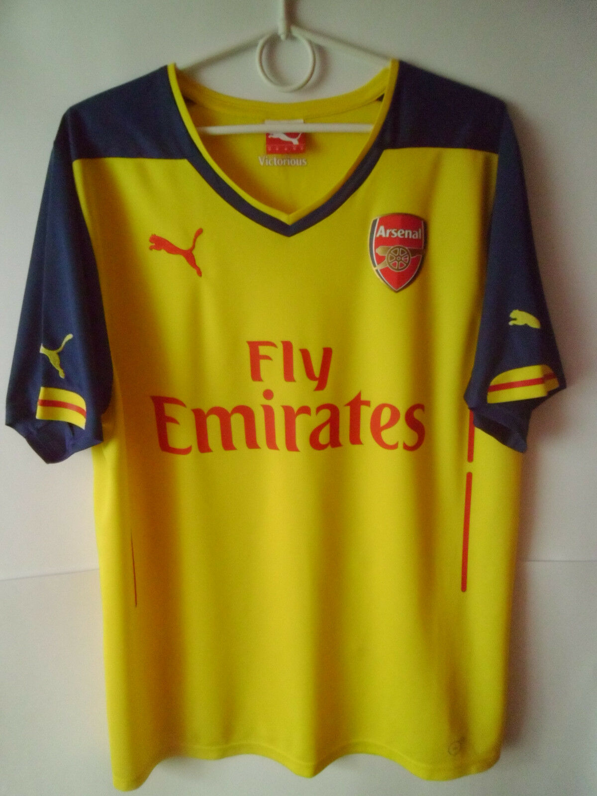EXCELLENT     2014-15 Arsenal Away Shirt Jersey Trikot M