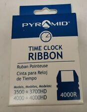 Pyramid 4000r Time Clock Ribbon For 3500 3700hd 4000 4000hd Free Samph