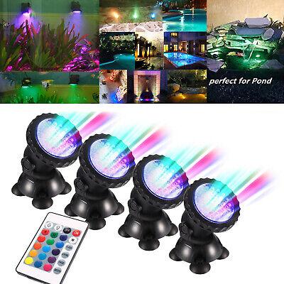 LED RGB Aquarium Unterwasser Strahler Brunnen Teichbeleuchtung Leucht Outdoor DE