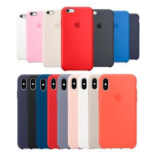 Funda-silicona-Apple-iPhone-6-6s-7-8-8-Plus-Xs-Max-XR-carcasa-original