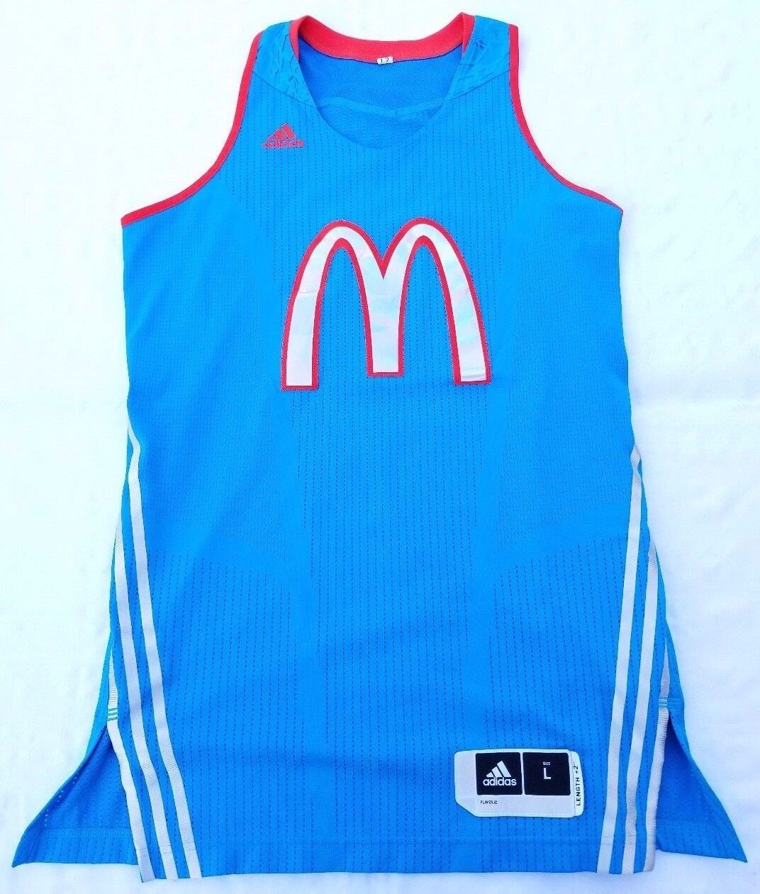 2012 McDonald's All-American Games jersey women sz L +2 length Adidas bluee red