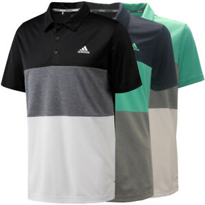 Adidas Golf Men's Advantage Color Block Polo Shirt, Brand New