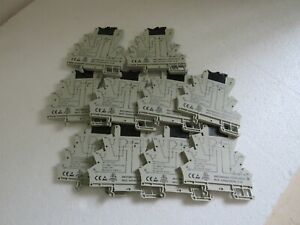 8607360000 SOLID STATE RELAYS WEIDMULLER MOZ 24 VDC / 24 VDC 0.1 AMP LOT OF 10