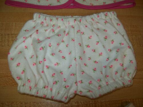 "PJs top+pants+booties PINK ROSEBUD for 12-15/"" CPK Cabbage Patch Kids Preemie BBB"
