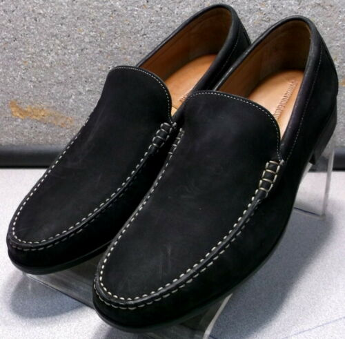 209579 ES50 Men/'s Shoes Size 10.5 M Black Leather Slip On Johnston /& Murphy