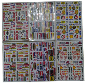 Set 6 Sheets Rc Car Truck Mini Racing Stickers Decals Free Ship