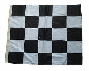 "100% COTTON - Nascar Flag - Black and White - 22"" X 27"" - The Checkered Flag"