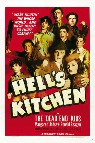 Hell/'s Kitchen Ronald Reagan movie poster print