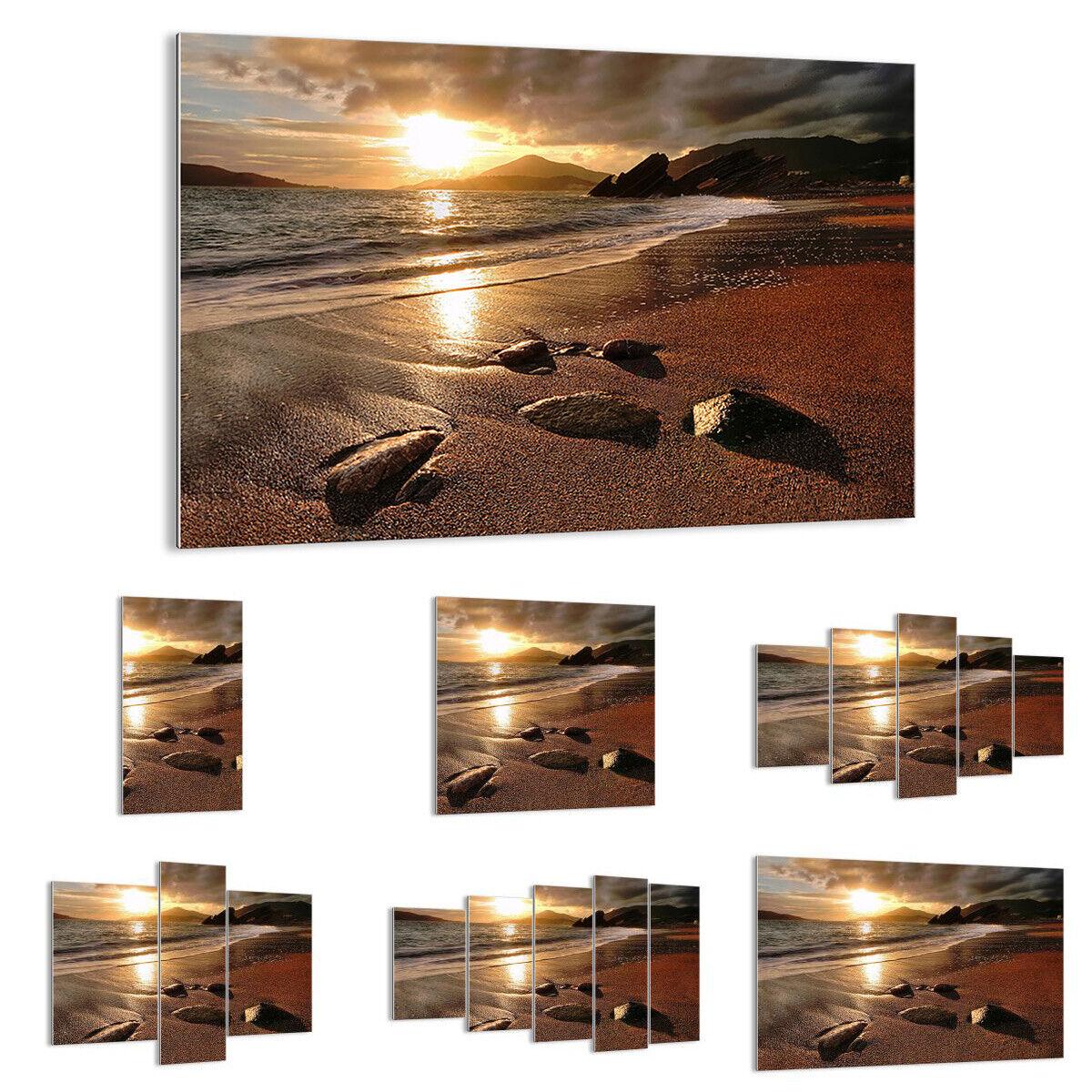 Immagine Di Vetro Immagine Muro Decorazione spiaggia nuvole sera costa 2527 de