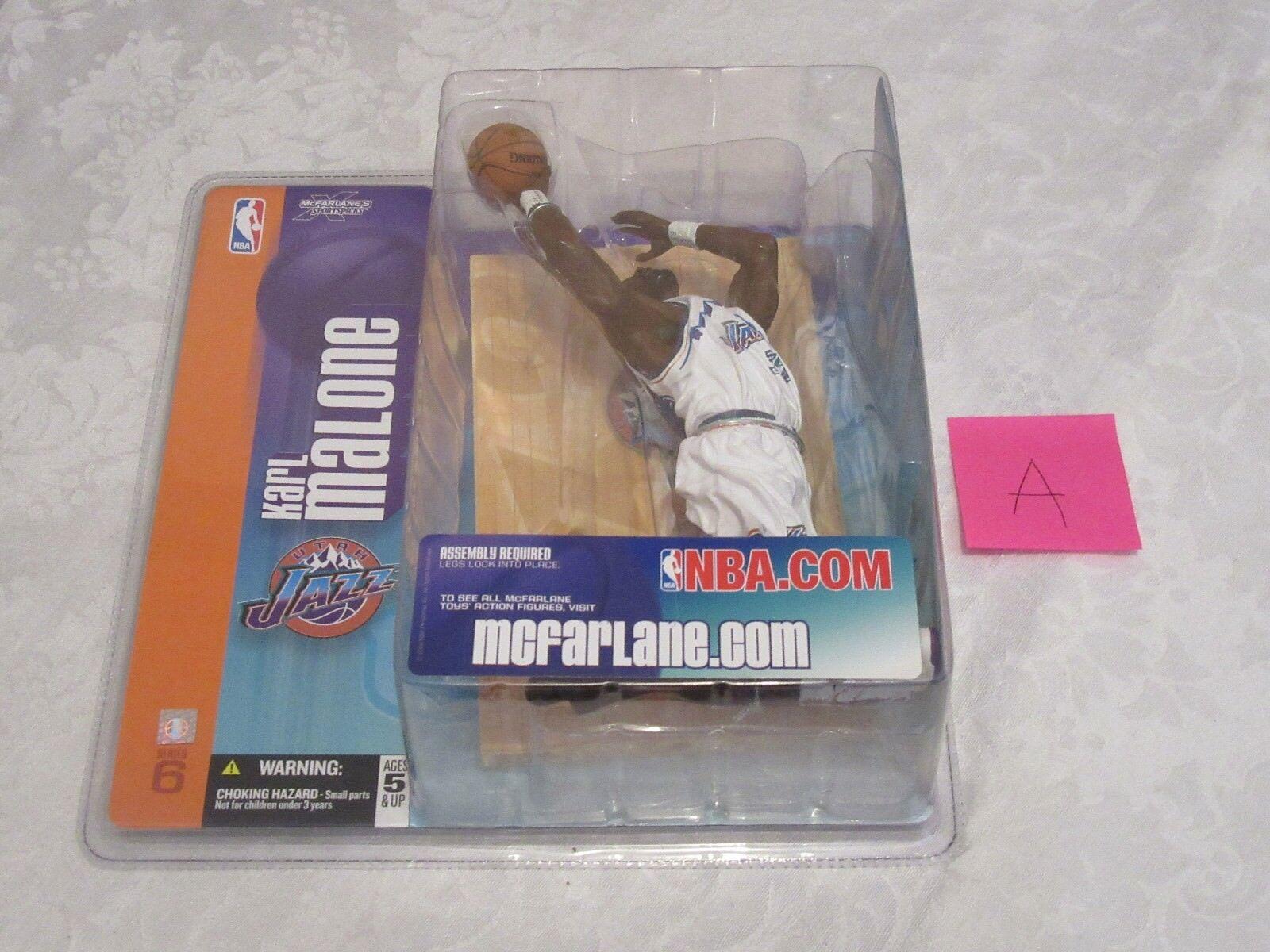 McFarlane NBA Series 6 Karl Malone Chase Variant Retro White Action Figure A