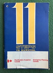 11 Steps To Survival Nuclear War Canada 1969 Emergency Planning booklet