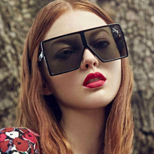 Flat Top Women/'s Sunglasses Oversize Glasses Large Square Frame