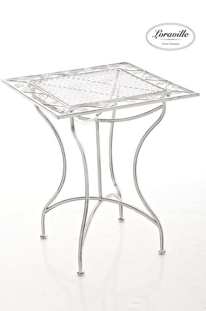 Tisch Asina antik weiss Loraville Gartentisch Beistelltisch Metalltisch Neu Neu Neu 27482c
