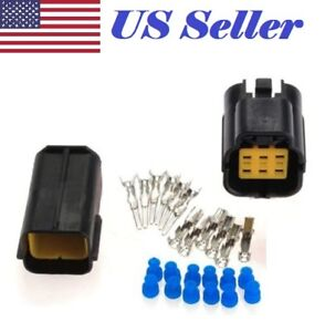 car truck boat 6 pin way waterproof wire connector plug auto sealed rh ebay com