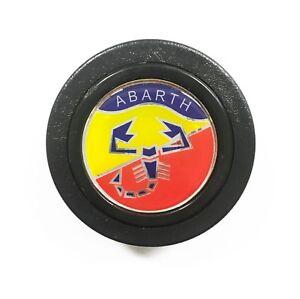 Pulsante-Clacson-Abarth-Fiat-Auto-Epoca-Volante-Sportivo-Giallo-Rosso-Blu-40mm