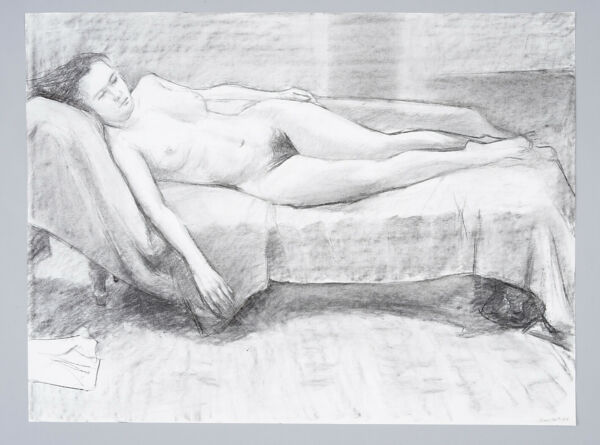 An ORIGINAL NUDE LIFE DRAWING By Stanley Swain A1 594mm x