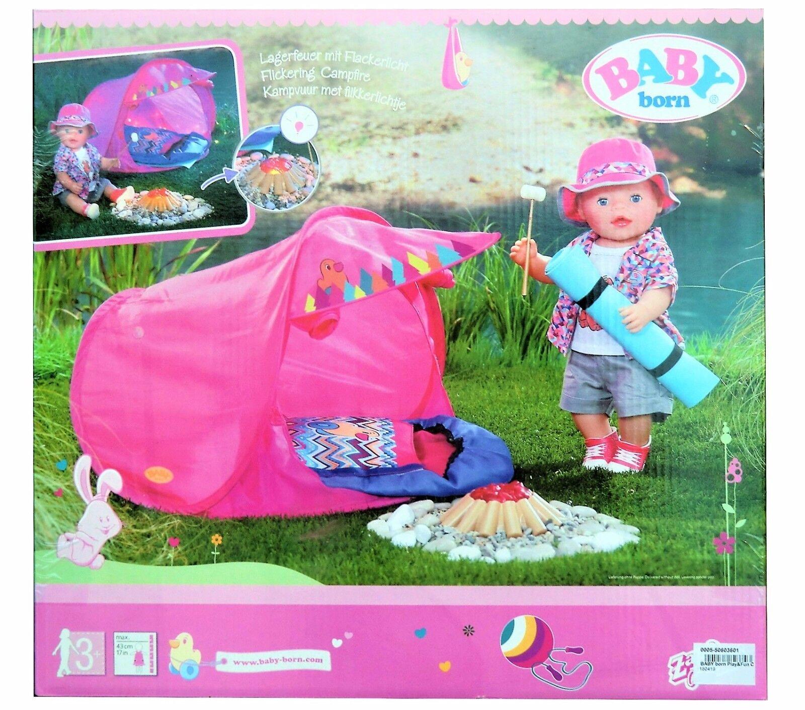 BABY Born® Camping Set mit Zelt, Lagerfeuer u.v.m. Zapf Creation 823743, NEU+OVP